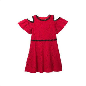 KATE SPADE Girls Lace Cold Shoudler Dress